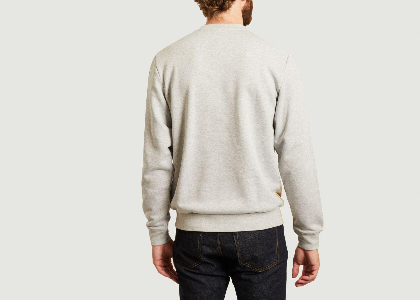 Sweatshirt rayé siglé - Lacoste