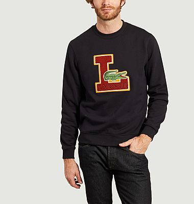 Sweatshirt avec écusson siglé