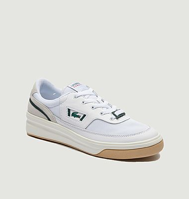G80 leather and fabric sneakers