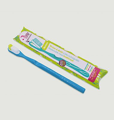 Soft organic vegetable toothbrush