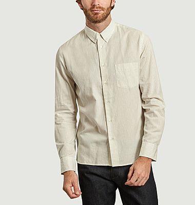 Chemise Branco rayée coton et laine