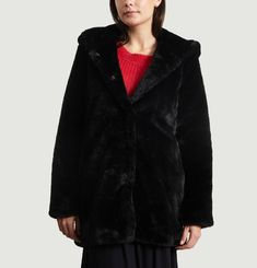 Maniable Faux Fur Coat