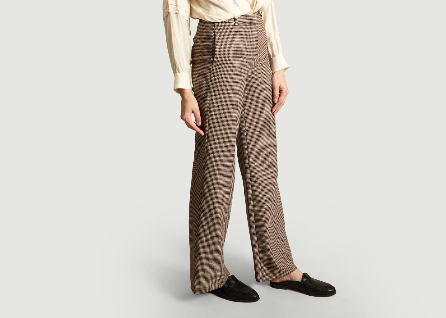Pantalon Large Motif Pied-De-Poule Palace - La Petite Française