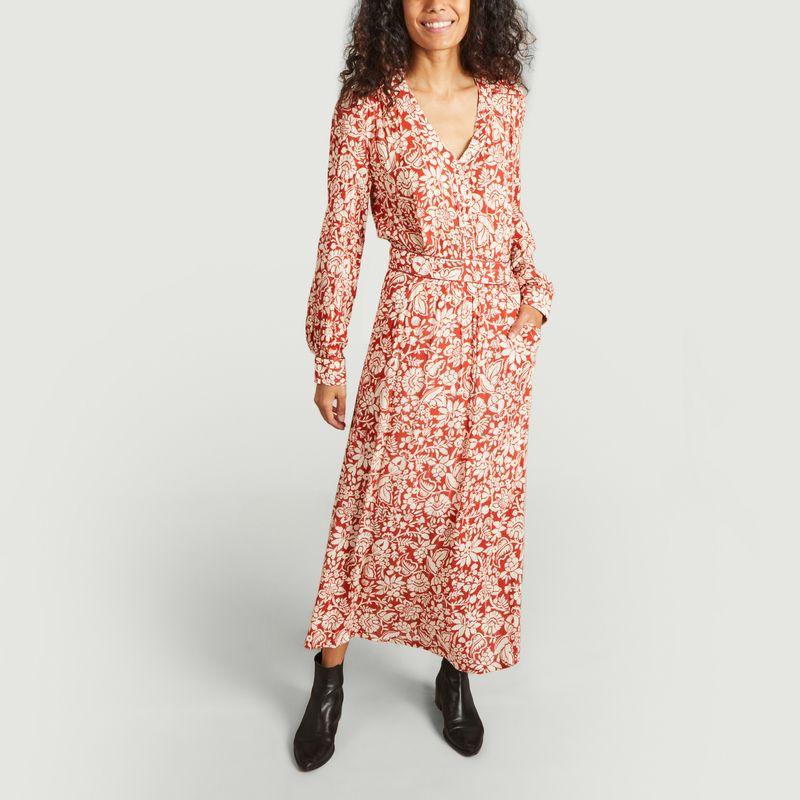 Robe longue imprimé fleuri Reposée - La Petite Française