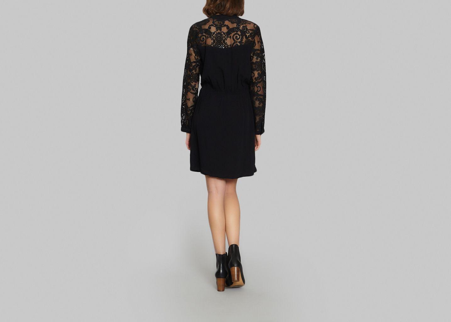 robe zola la petite fran aise noir l 39 exception. Black Bedroom Furniture Sets. Home Design Ideas