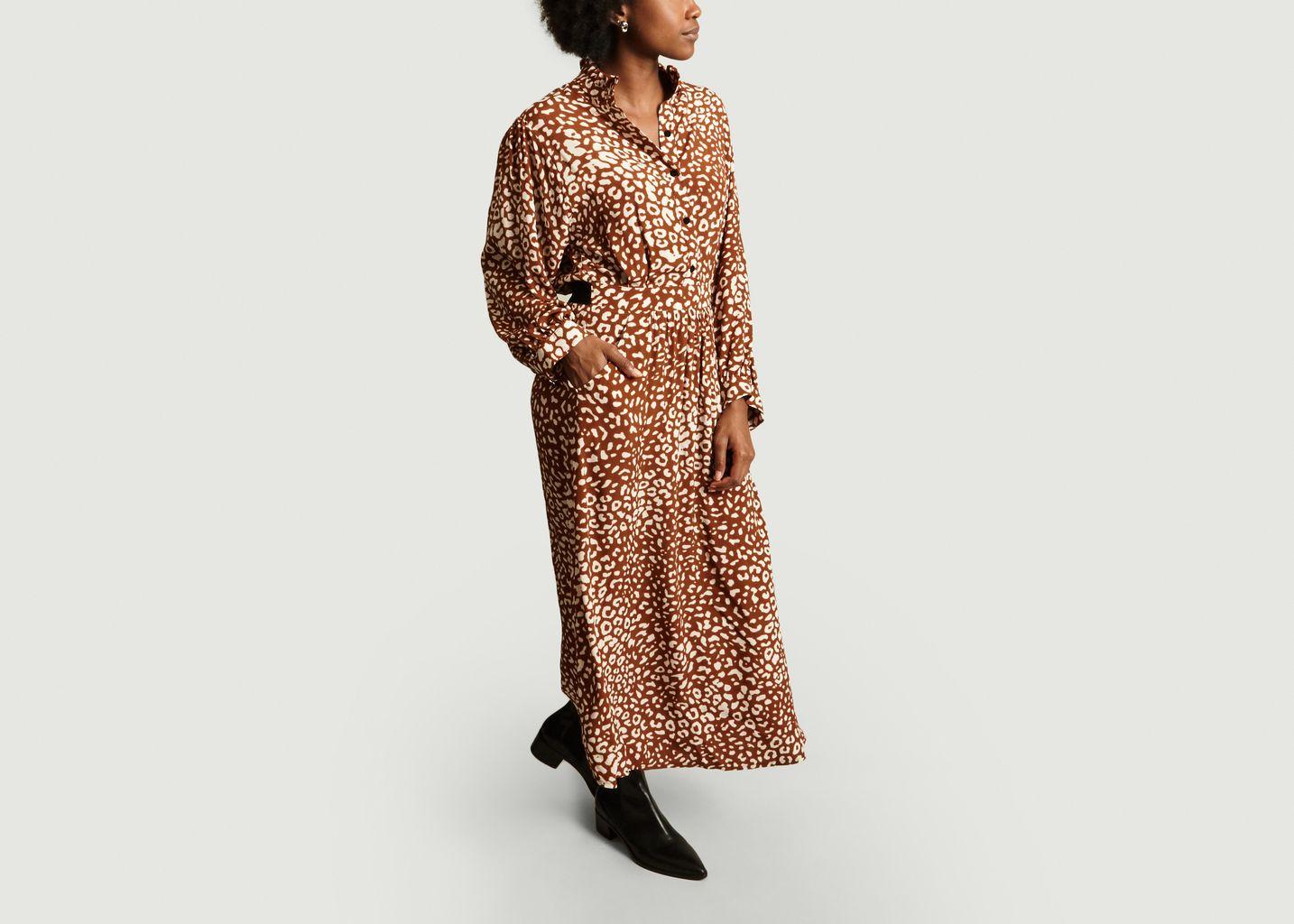 Robe-Chemise Longue Print Panthère Royaume - La Petite Française