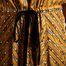 matière Robe Mi-Longue Richesse Imprimé Rayures - La Petite Française