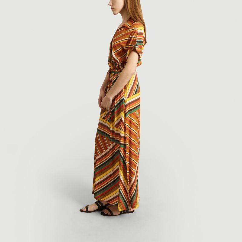 Robe longue Rayonnante imprimé rayures - La Petite Française