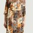 matière Robe longue Relachée à détail ceinture - La Petite Française