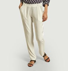 Philippe pants with satin edging