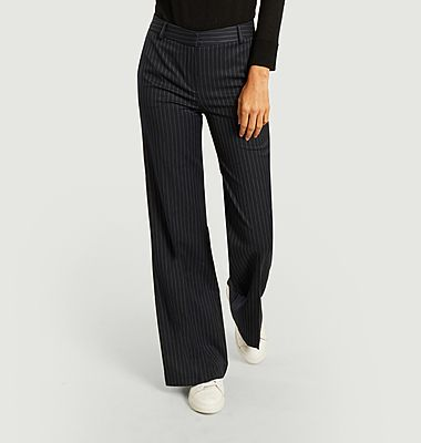 Pénélope striped flared trousers