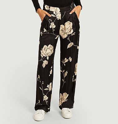 Pacôme flower print loose trousers