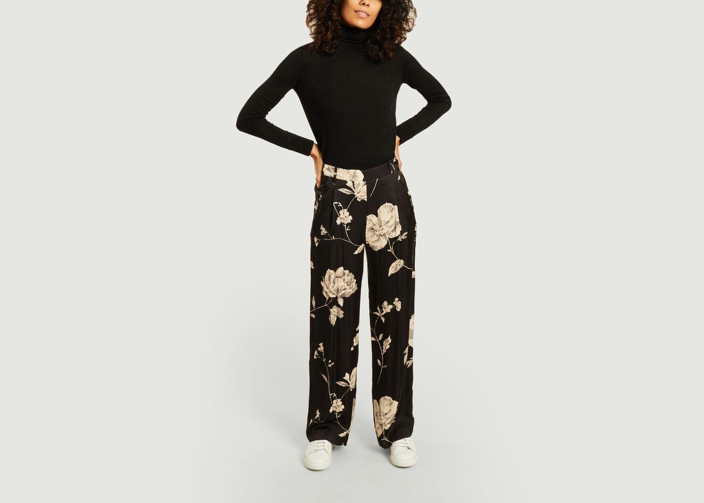 Pantalon large imprimé fleuri Pacôme - La Petite Française