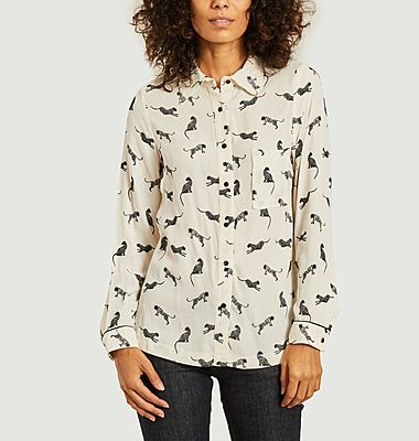 Cyril feline print shirt