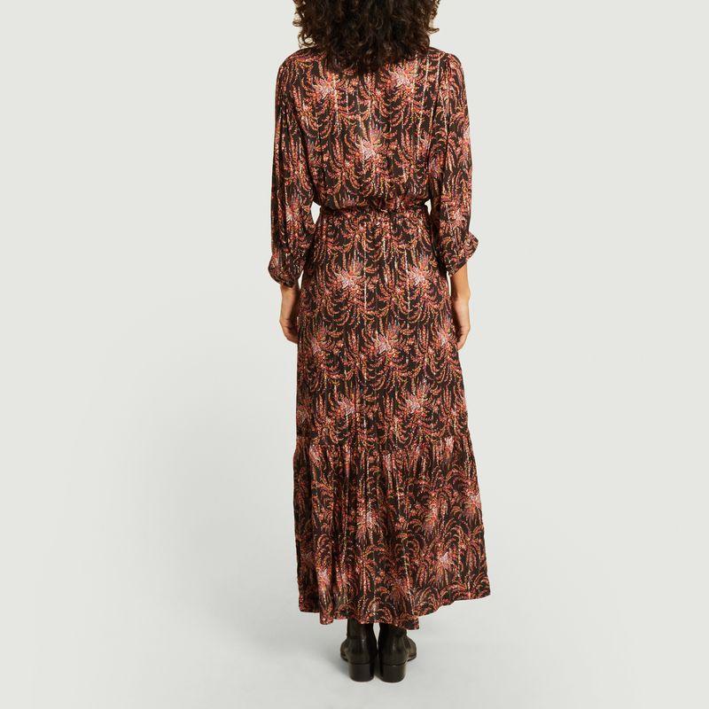 Robe longue imprimée fleuri avec lurex Renée - La Petite Française
