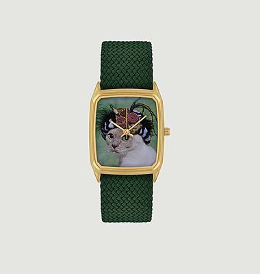 Catimini watch with cat picture