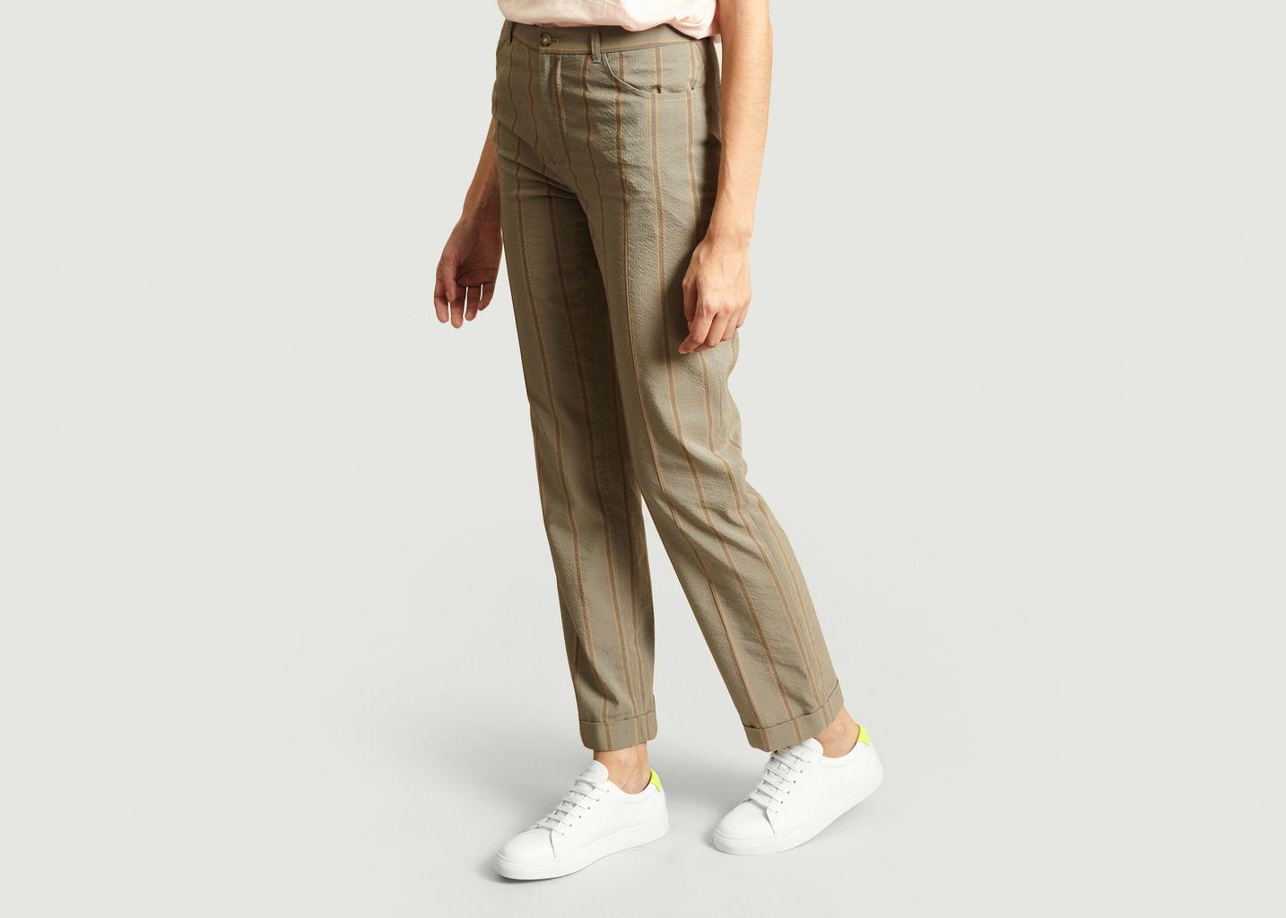 Pantalon en Laine Vierge Mélangée - Laquintane