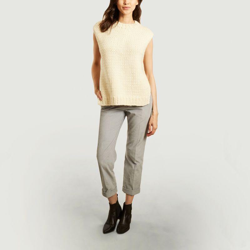 Pantalon droit 7/8e en velours - Laquintane