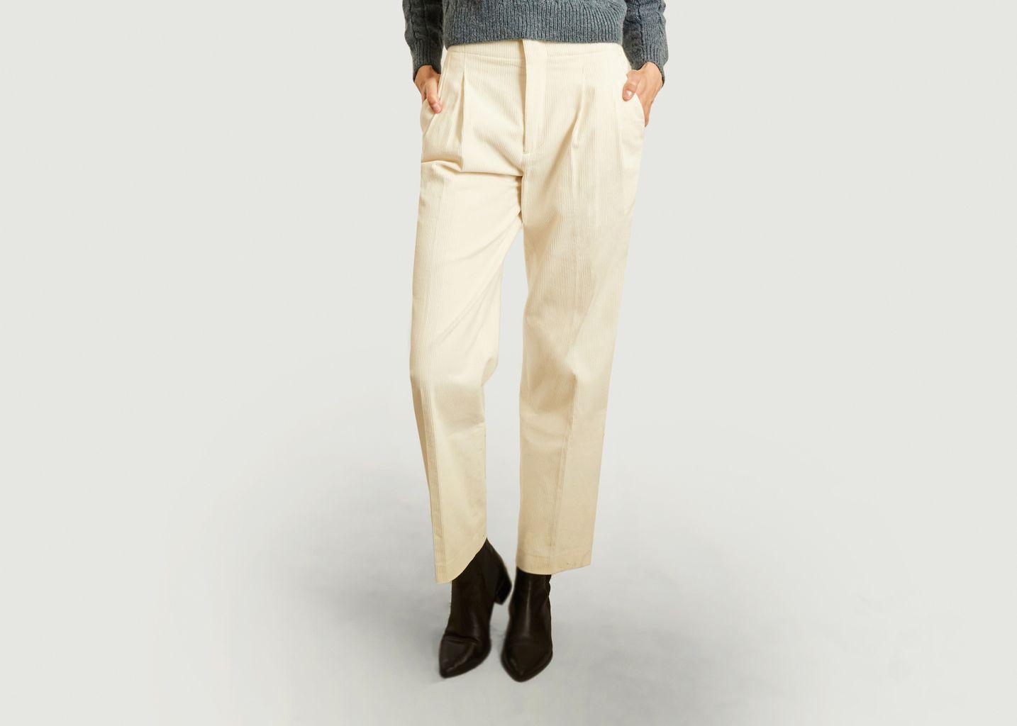 Pantalon taille haute en velours  - Laquintane