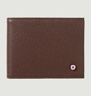Italian grained leather wallet Arthur
