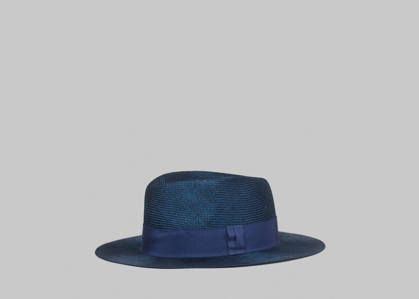 681f498bc77 Sisal Hat Navy Blue Larose Paris