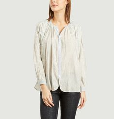 Cigar Striped Oversize Blouse