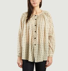Blouse Cigar à Pois