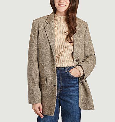 Veste blazer en laine à chevrons New New