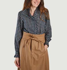 Chemise en coton à carreaux Land
