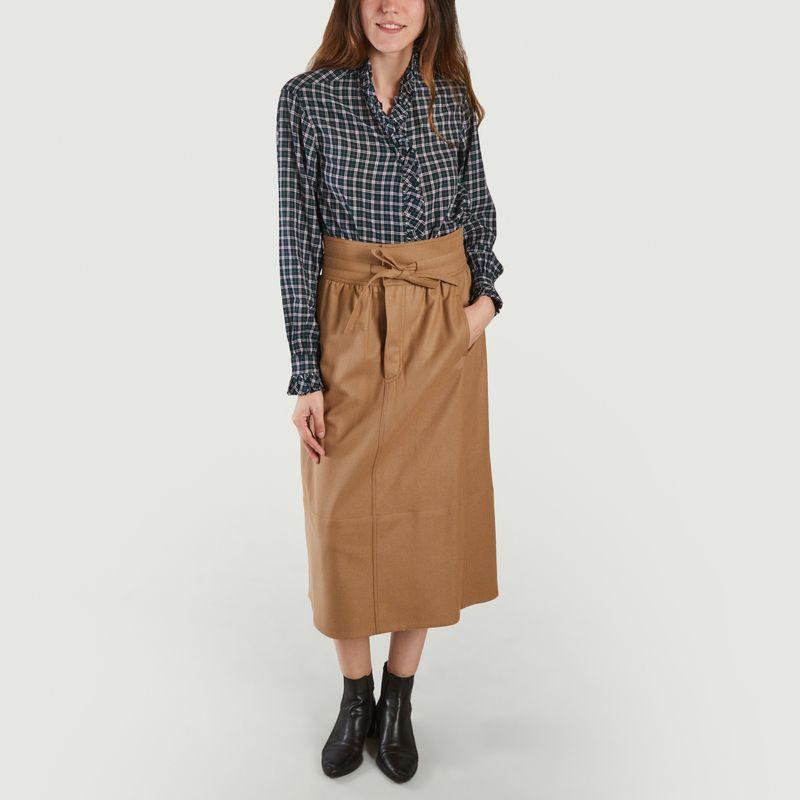 Chemise en coton à carreaux Land - Laurence Bras