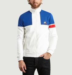 Sweat Tricolore Zippé