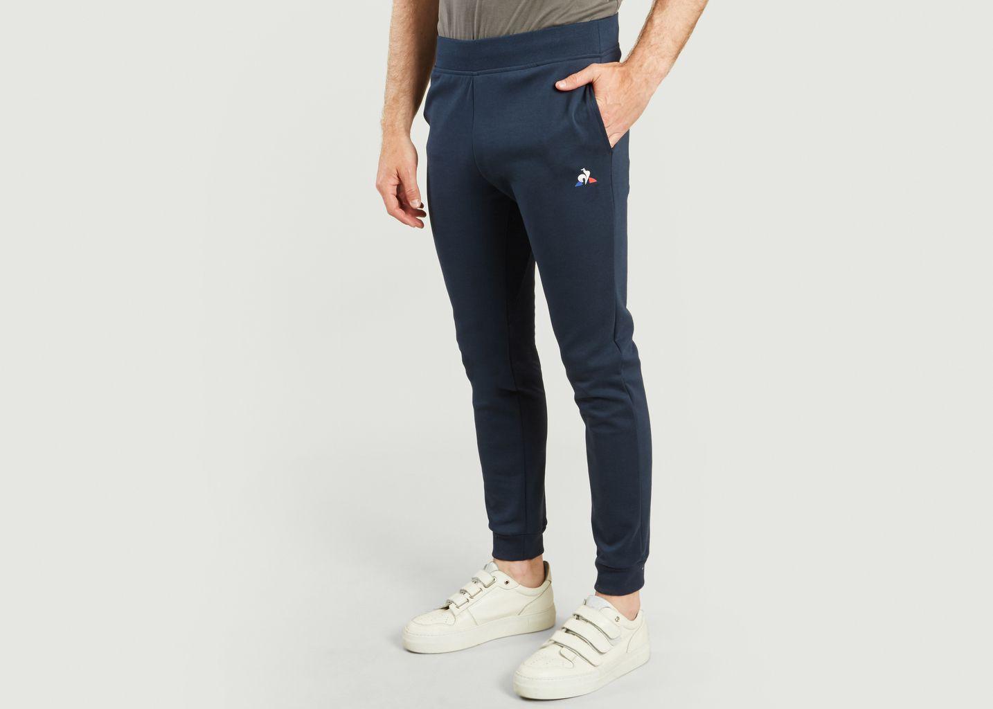 Pantalon Tricolore Fuselé Bleu Marine Le