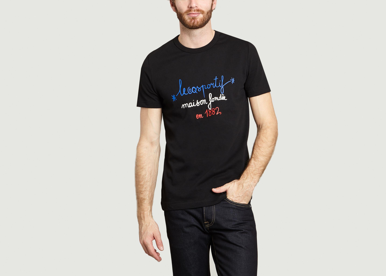 75cc524d8c 1882 Tricolour T-shirt Black Le Coq Sportif | L'Exception