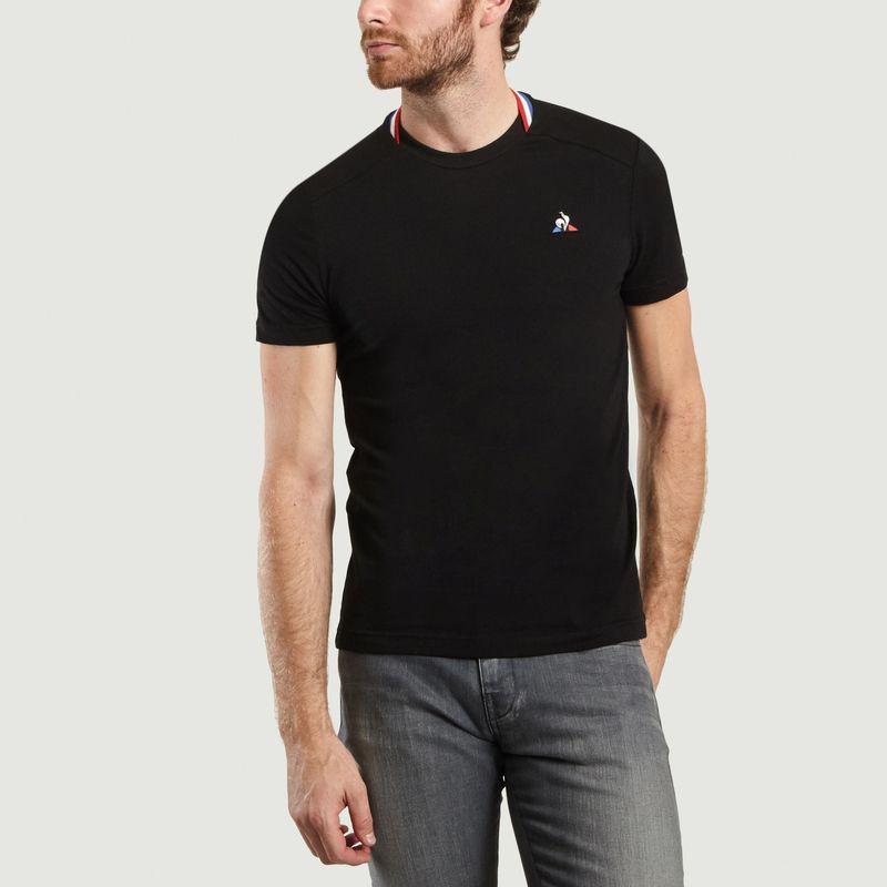 T-Shirt n°2 Col Tricolore - Le Coq Sportif