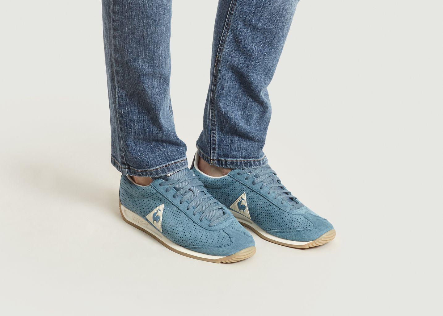 6311b16e4430 Sneakers Quartz Premium Bleu Clair Le Coq Sportif