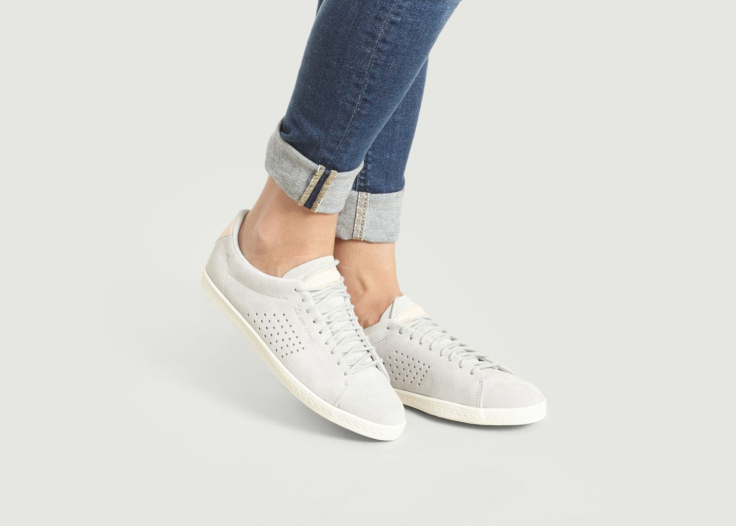 9ea25a6c4837 Suede Charline Sneakers Light Grey Le Coq Sportif | L'Exception