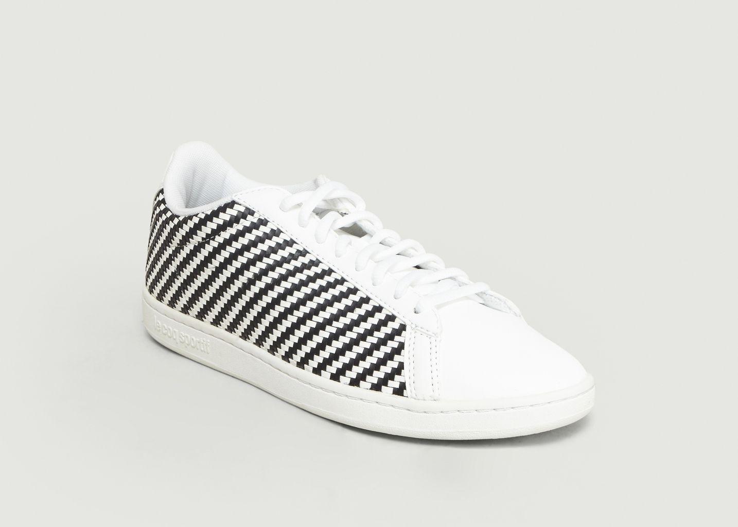 Le 40 Soldes À Courtset L W Sportif Woven Sneakers Blanc Coq q44rXOxz
