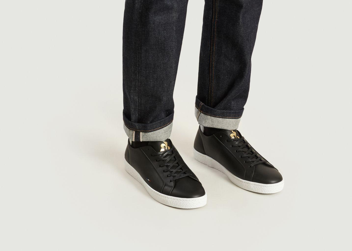 D'or Coq SportifL'exception Club Sneakers Noir Le 0nOkXNwZ8P