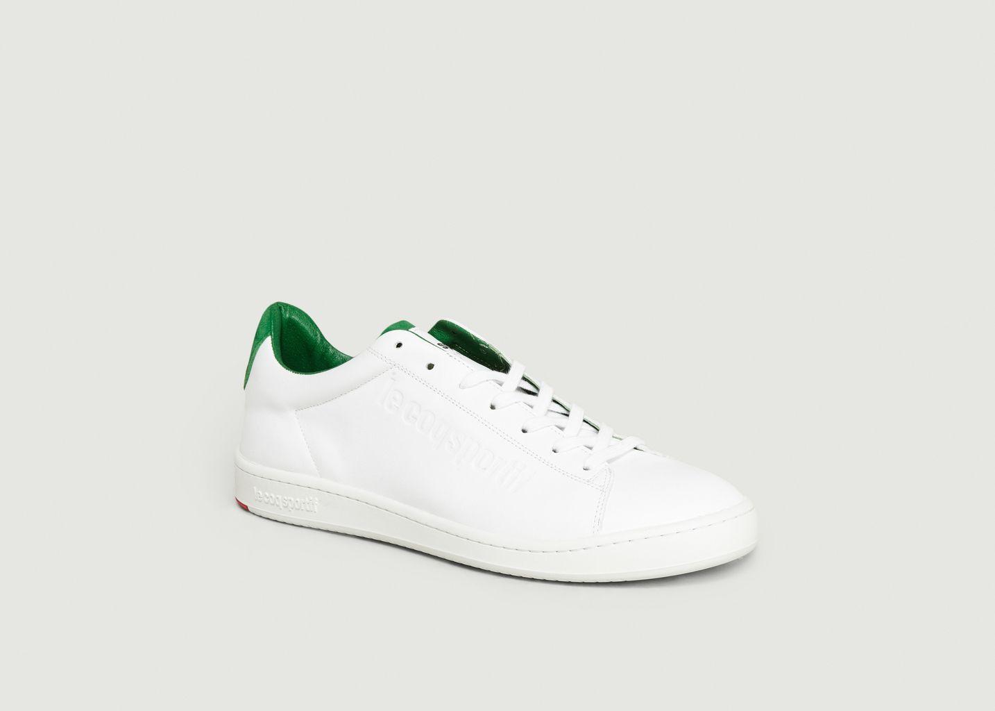 Blazon Green Trainers White Le Coq
