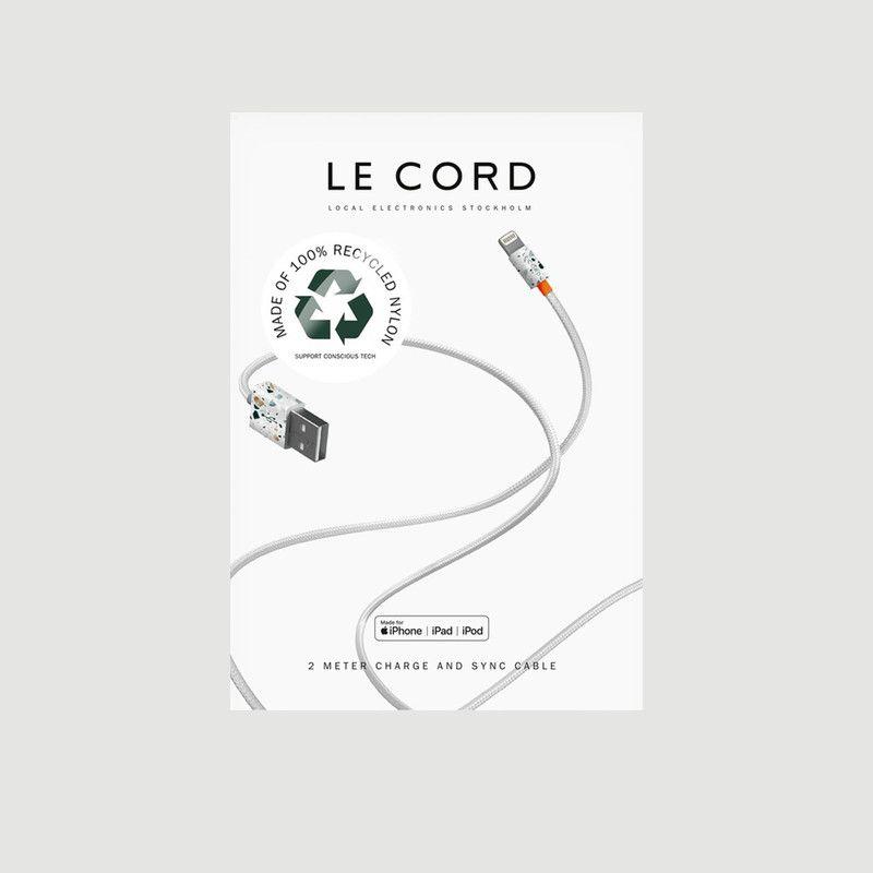 Cable USB Recyclé 2 Mètres - Le Cord