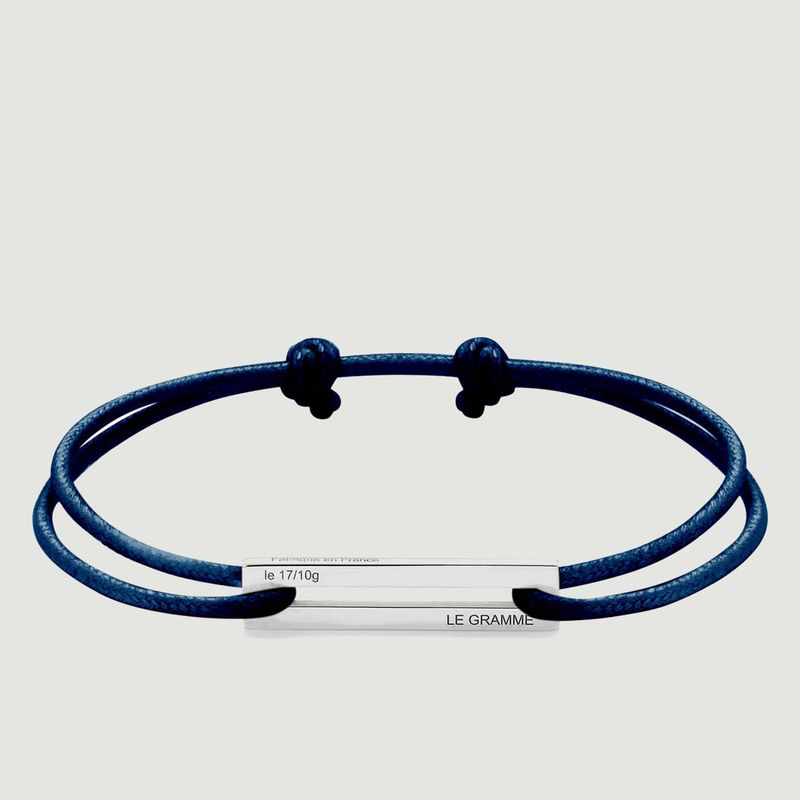 17/10g cord and silver bracelet - Le Gramme