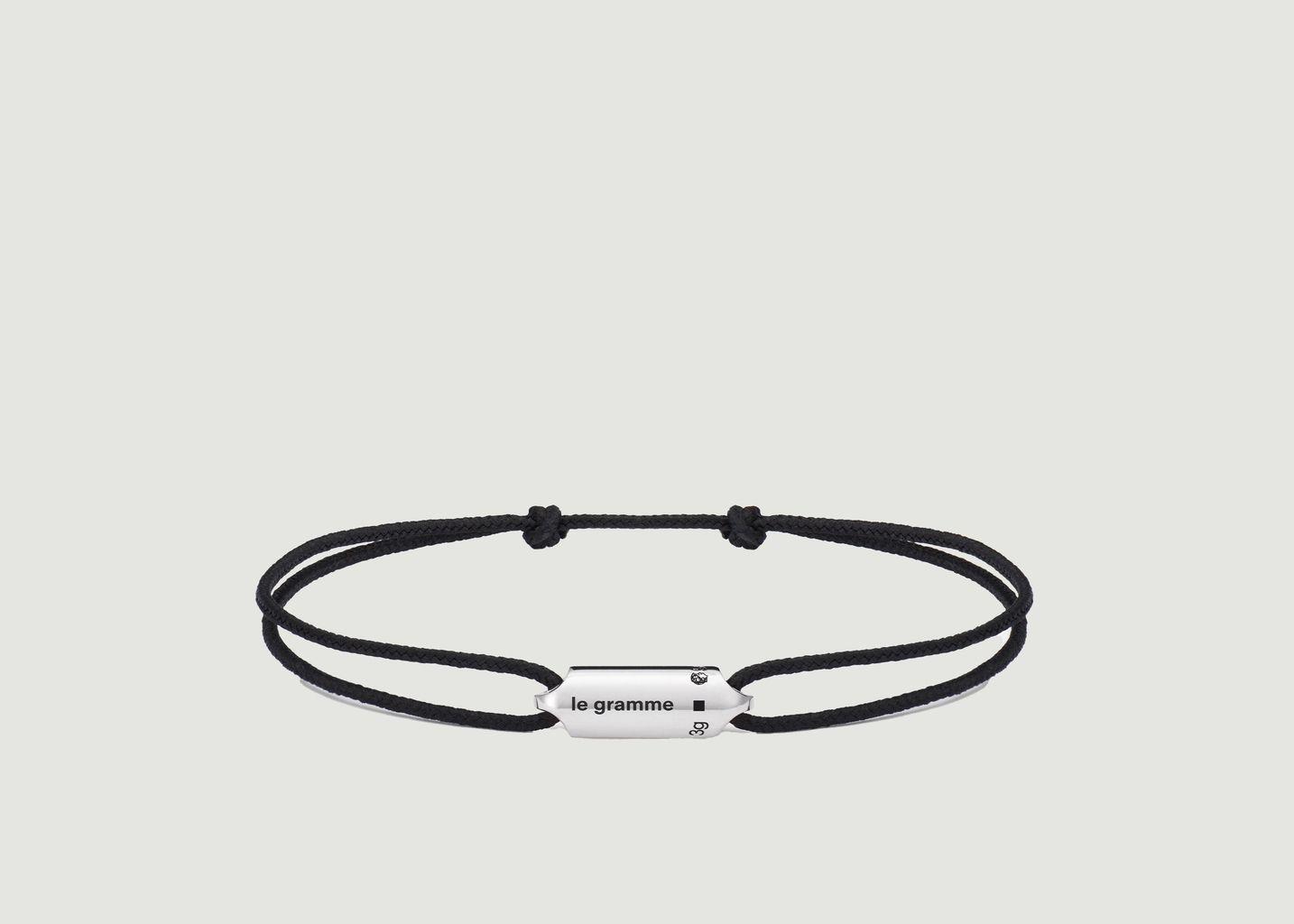 Bracelet cordon capsule 3g - Le Gramme