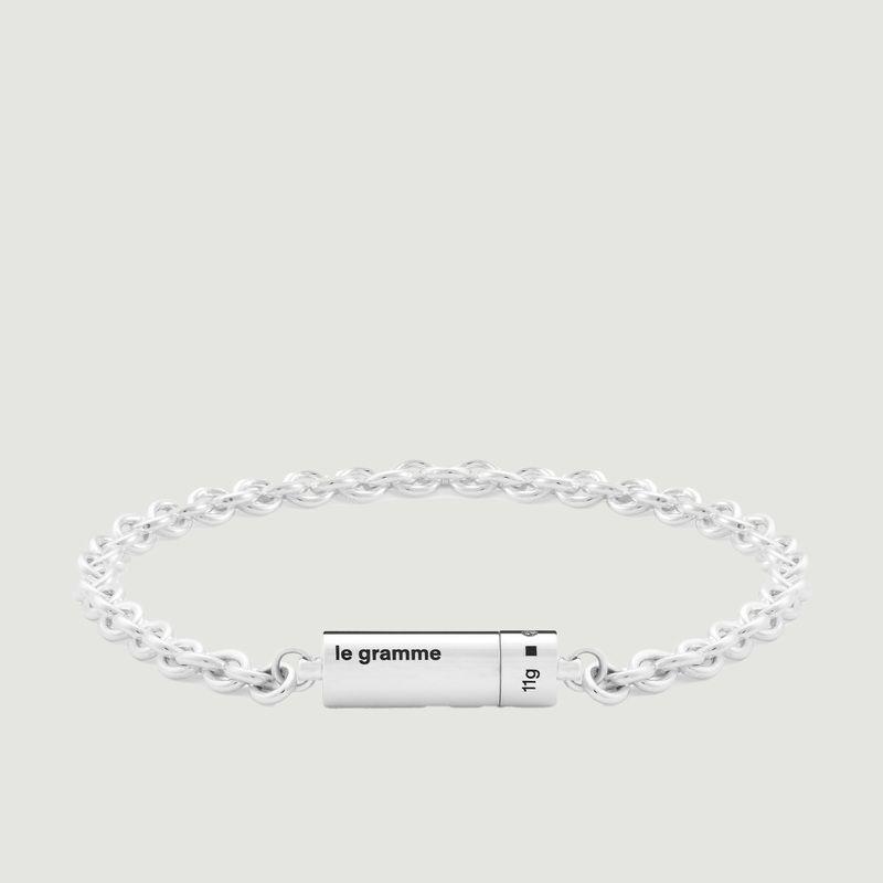 Bracelet câble sur chaine 11g - Le Gramme