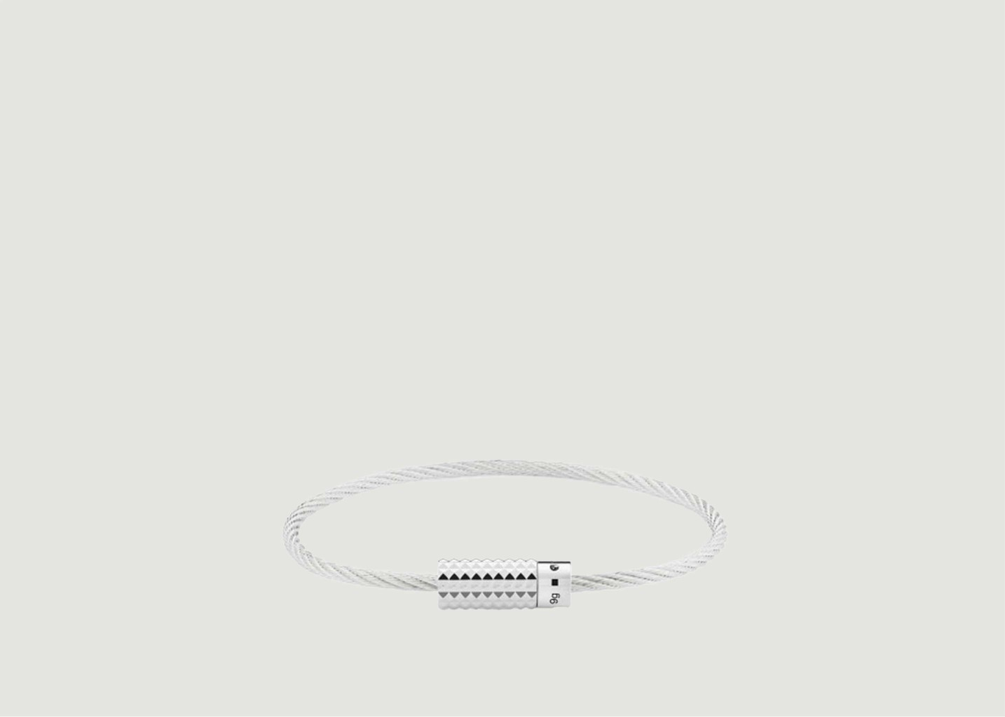 Bracelet Câble Pyramide Guilloche 9gr - Le Gramme