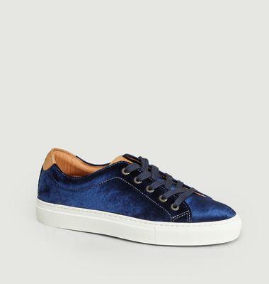 Sneakers à Lacets Velours