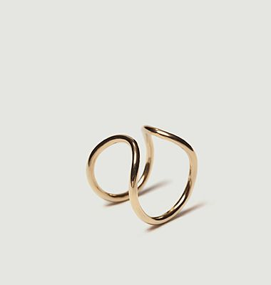 I-I gold plated ring