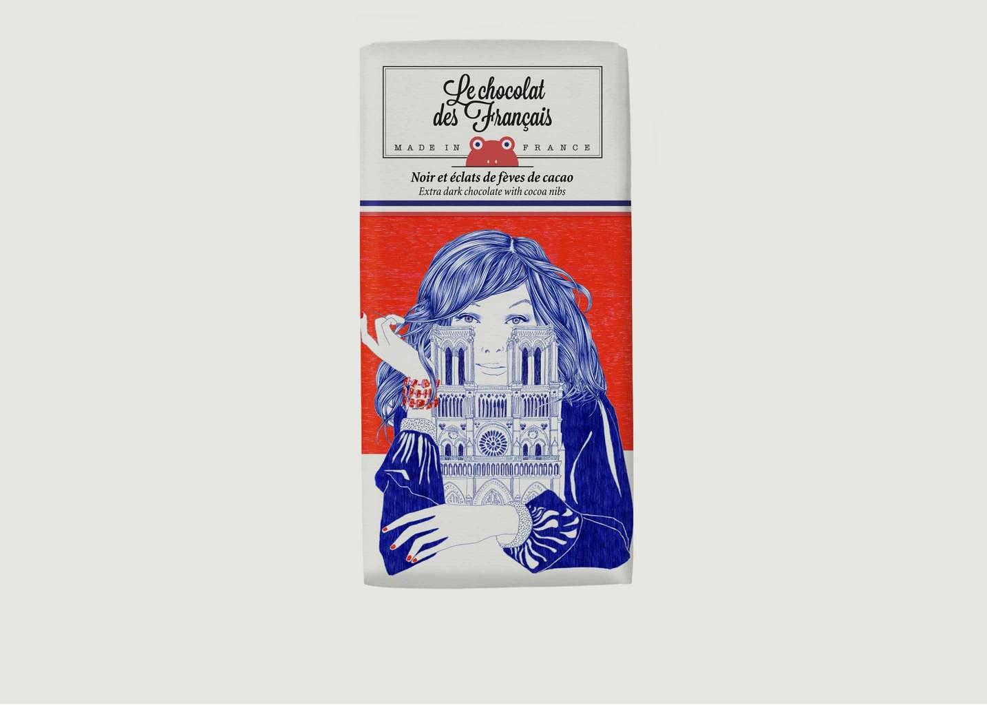 Tablette De Chocolat Noir Et Fèves Notre-Dame - Le Chocolat des Français
