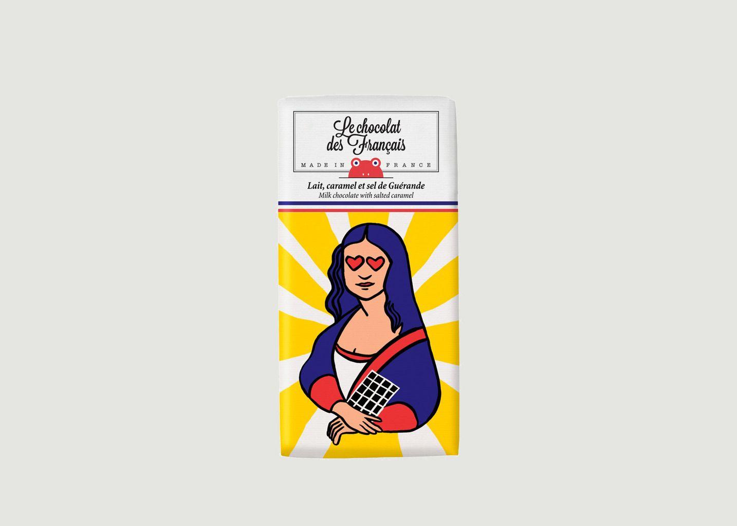 Tablette La Joconde - Lait Caramel et Sel de Guérande - Le Chocolat des Français