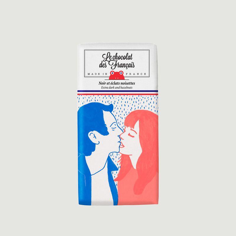 Tablette de Chocolat Le Baiser - Noir noisettes - Le Chocolat des Français