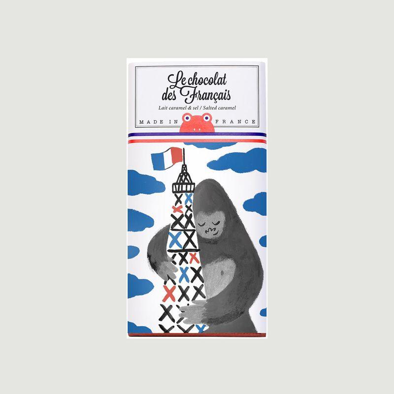 Tablette King-Kong - LAit Caramel et Sel de Guérande - Le Chocolat des Français